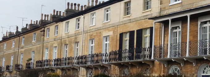 Row of stone terraced houses